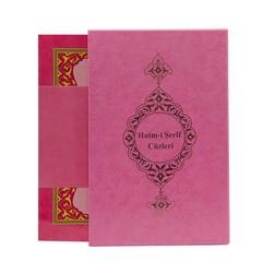Rahle Boy 30 Cüz Kur'an-ı Kerim (Pembe, Karton Ciltli, Kutulu) - Thumbnail