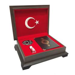 Ahşap Kutulu Kur'an-ı Kerim (0353 - Çanta Boy) - Thumbnail