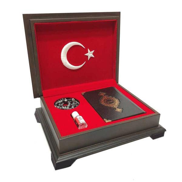 Ahşap Kutulu Kur'an-ı Kerim (0353 - Çanta Boy)