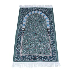 Arabic Ravza Yeşil Seccade - Thumbnail
