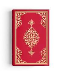 Cami Boy Kur'an-ı Kerim (2 Renkli, Kırmızı, Mühürlü) - Thumbnail