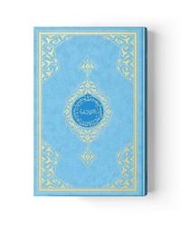 Cami Boy Kur'an-ı Kerim (2 Renkli, Mavi, Mühürlü) - Thumbnail