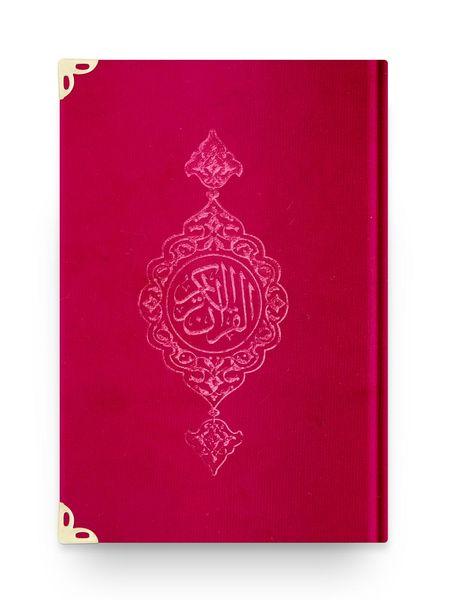 Çanta Boy Kadife Kur'an-ı Kerim (Kırmızı, Yaldızlı, Mühürlü)