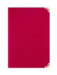 Çanta Boy Kadife Mealli Yasin Cüzü (Kırmızı, Nakışlı) - Thumbnail
