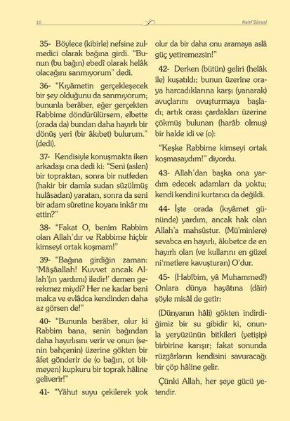 Çanta Boy Kadife Mealli Yasin Cüzü (Turkuaz)