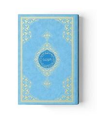 Çanta Boy Renkli Kur'an-ı Kerim (Mavi, Mühürlü, 2 Renkli) - Thumbnail