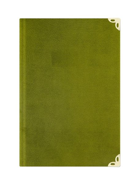 Cep Boy Kadife Mealli Yasin Cüzü (Yeşil, Nakışlı)