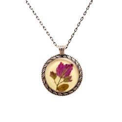 Çiçek Begonvil El İşi Otantik Reçine Kolye Cevşen (1776-1) - Thumbnail
