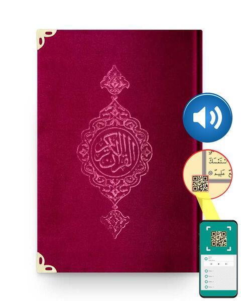 Hafız Boy Kadife Kur'an-ı Kerim (Bordo, Yaldızlı, Mühürlü)