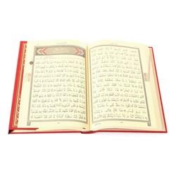 Hafız Boy Kur'an-ı Kerim (2 Renkli, Kırmızı, Mühürlü) - Thumbnail