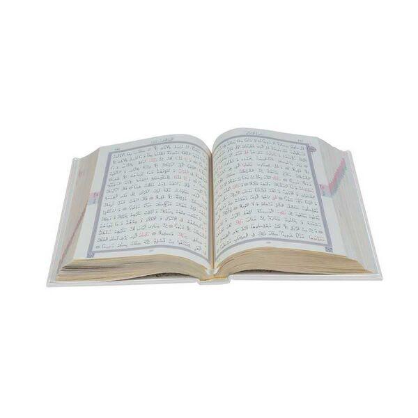 Hafız Boy Termo Deri Kuran-ı Kerim (Beyaz, Mühürlü)