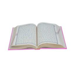 Hafız Boy Termo Deri Kuran-ı Kerim (Pembe, Mühürlü) - Thumbnail