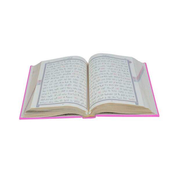 Hafız Boy Termo Deri Kuran-ı Kerim (Pembe, Mühürlü)