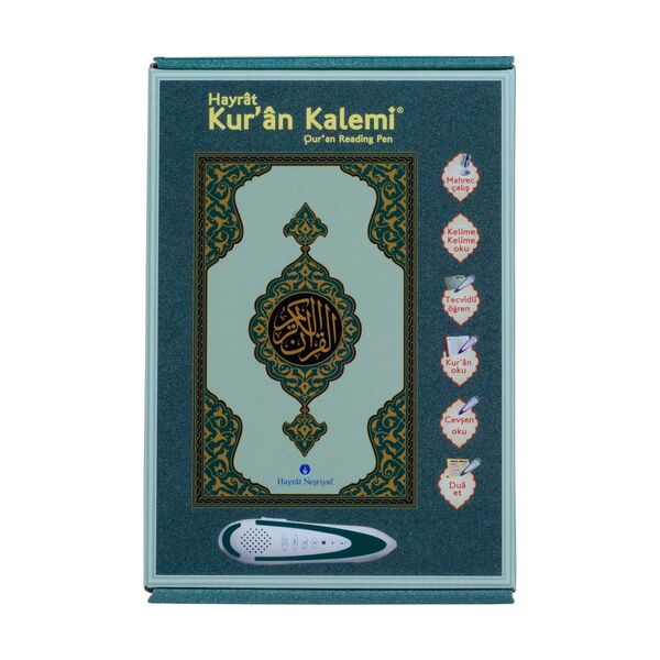 Kuran Okuyan Kalem Seti (Yeşil, Orta Boy, Karton Kutulu)