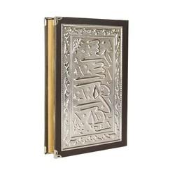 Dik Kutulu Kaplama Gümüş Kur'an-ı Kerim (Çanta Boy) - Thumbnail