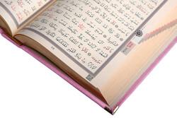 Kadife Kutulu Kur'an-ı Kerim (Cep Boy, Elif-Vavlı, Pembe) - Thumbnail