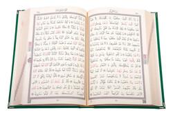 Kadife Kutulu Kur'an-ı Kerim (Cep Boy, Elif-Vavlı, Yeşil) - Thumbnail