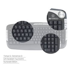 Katip Osmanlıca Klasik Klavye/Mouse Seti (Kablosuz) - Thumbnail