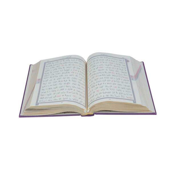 Orta Boy Termo Deri Kuran-ı Kerim (Lila, Mühürlü)