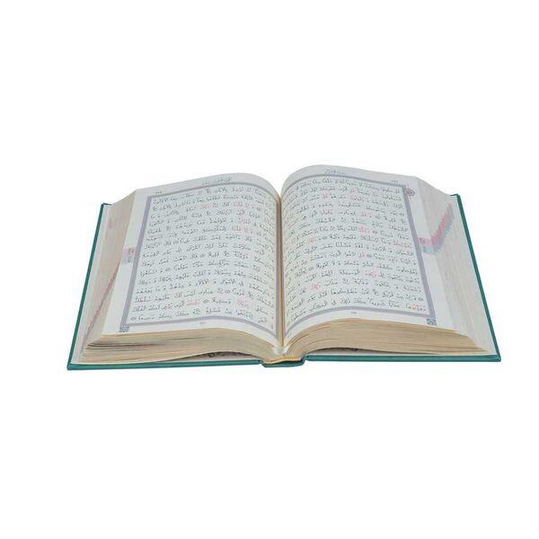 Orta Boy Termo Deri Kuran-ı Kerim (Yeşil, Mühürlü)