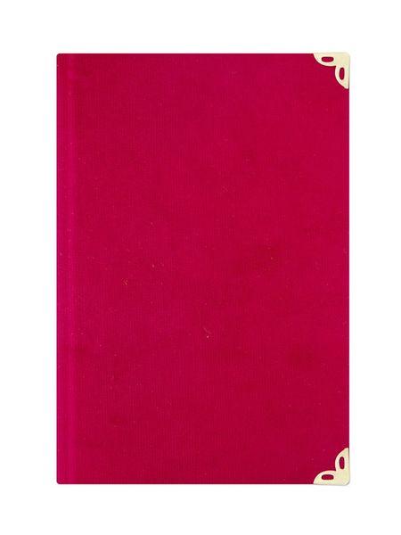 Orta Boy Kadife Mealli Yasin Cüzü (Kırmızı, Nakışlı)