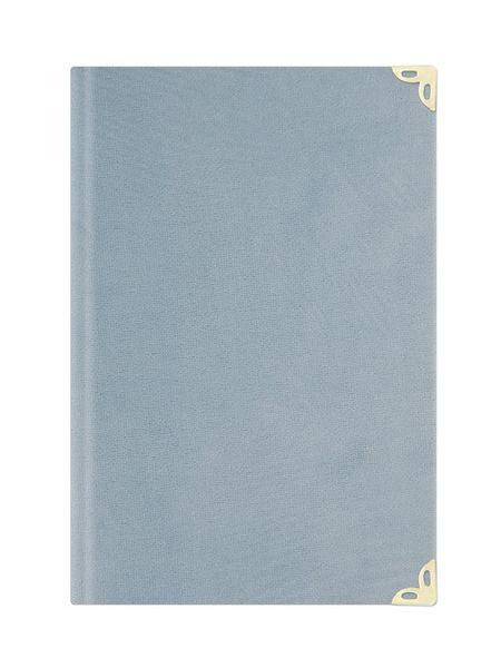 Orta Boy Kadife Mealli Yasin Cüzü (Mavi, Nakışlı)