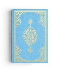 Orta Boy Kur'an-ı Kerim (2 Renkli, Mavi, Mühürlü) - Thumbnail