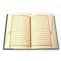 Orta Boy Kur'an-ı Kerim (2 Renkli, Yeşil, Mühürlü) - Thumbnail