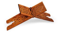 Oymalı Ahşap Rahle (Battal Boy - 75 cm) - Thumbnail