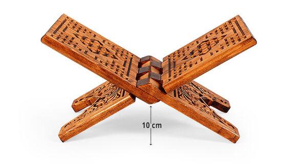 Oymalı Ahşap Rahle (Mini Boy - 35 cm)