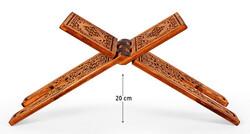 Oymalı Ahşap Rahle (Orta Boy - 55 cm) - Thumbnail