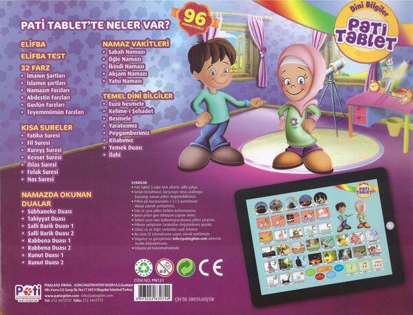Sesli Dini Bilgiler Büyük Boy - Pati Tablet: 96 Fonksiyonlu