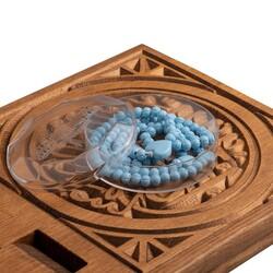 Gül Kokulu Tesbih Mavi (Kalp Desenli) - Thumbnail