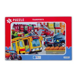 Transport Taşıtlar 30 Parça Puzzle (BF243) - Thumbnail
