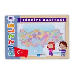 Türkiye Haritası 100 Parça Puzzle Kutulu (BF237) - Thumbnail