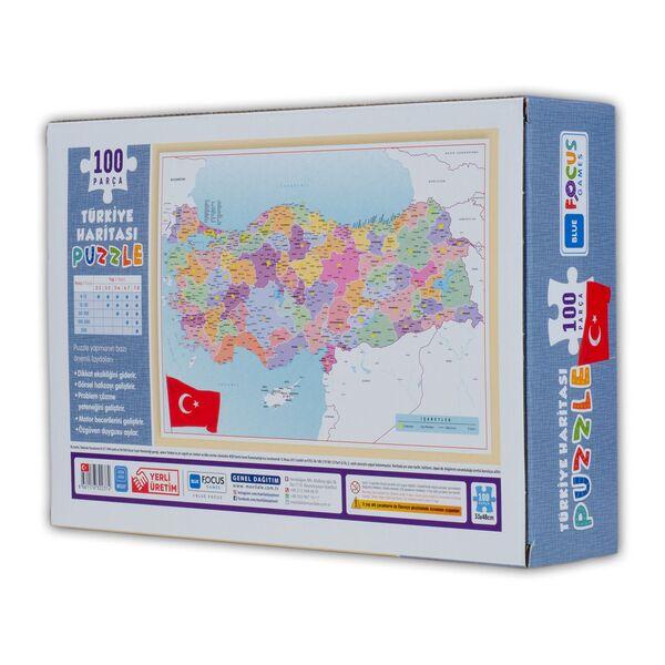 Türkiye Haritası 100 Parça Puzzle Kutulu (BF237)