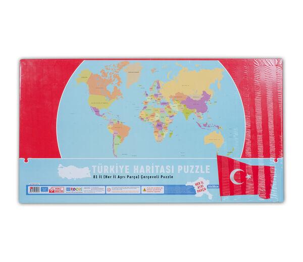 Türkiye Haritası Büyük Boy 81 Parça Puzzle (BF047)