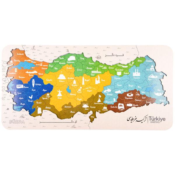 Türkiye Haritası Osmanlıca Ahşap Yapboz