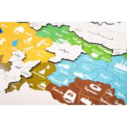 Türkiye Haritası Osmanlıca Ahşap Yapboz - Thumbnail