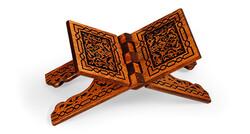 Yakmalı Ahşap Rahle (Küçük Boy - 45 cm) - Thumbnail